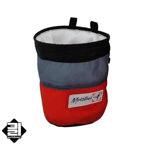 Metolius PYTLÍK NA Mg - Ultralight červený (Magnesium Chalk Pod - Ultralight Red)