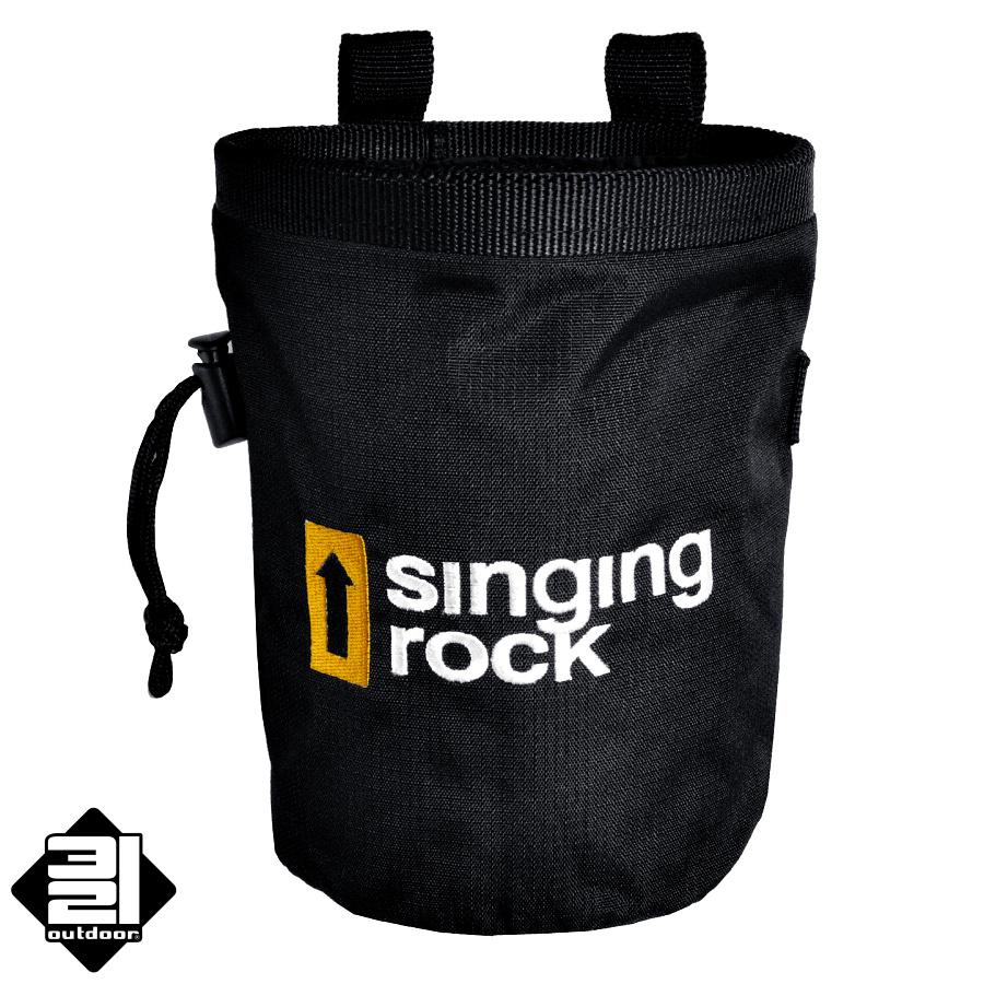 Pytlík na magnesium Singing Rock černý (Large Chalk Bag - Black)
