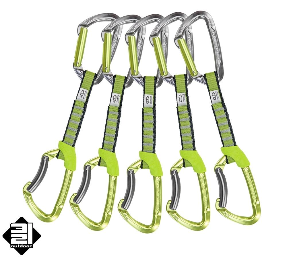Climbing Technology LIME NY 5 ks elox (Express Set Lime NY Anodized 5x)